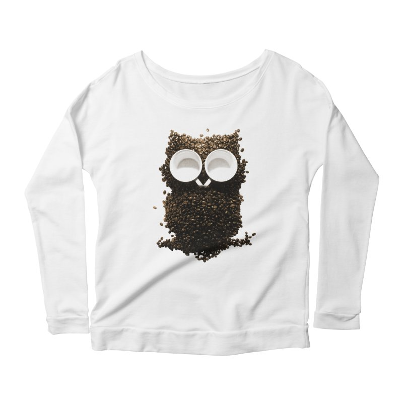 Hoot! Night Owl! Women's Scoop Neck Longsleeve T-Shirt by Apparel by Marco aka ivejustquitsmoking