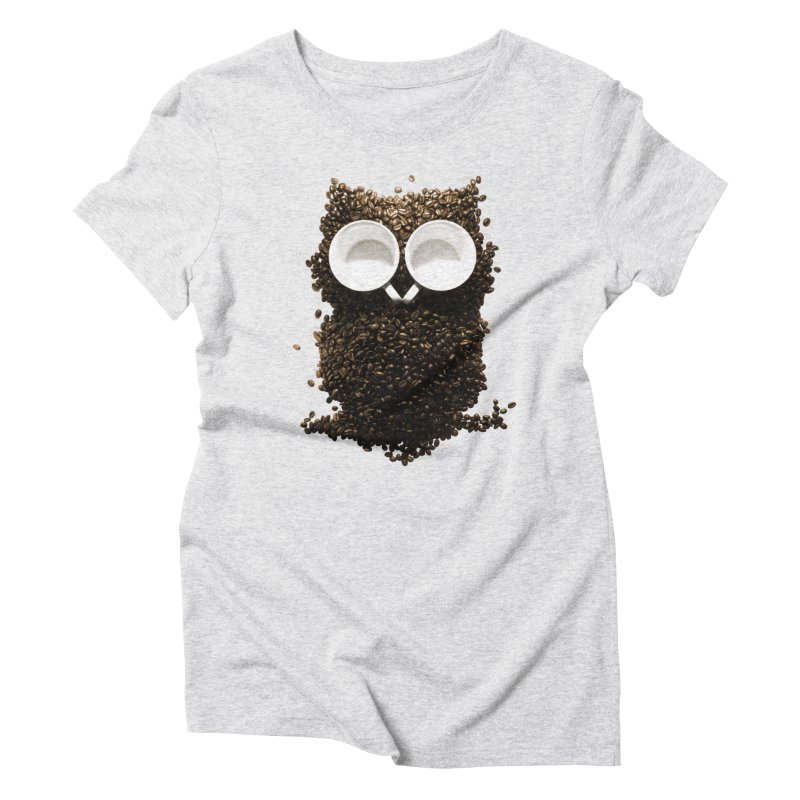 Hoot! Night Owl! Women's Triblend T-Shirt by Apparel by Marco aka ivejustquitsmoking