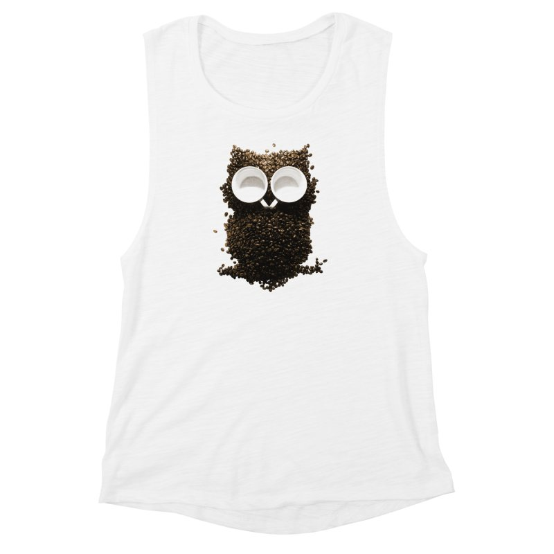 Hoot! Night Owl! Women's Muscle Tank by Apparel by Marco aka ivejustquitsmoking