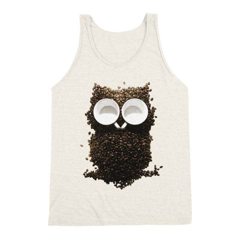 Hoot! Night Owl! Men's Triblend Tank by Apparel by Marco aka ivejustquitsmoking