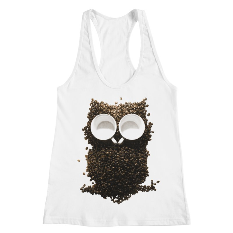 Hoot! Night Owl! Women's Racerback Tank by Apparel by Marco aka ivejustquitsmoking