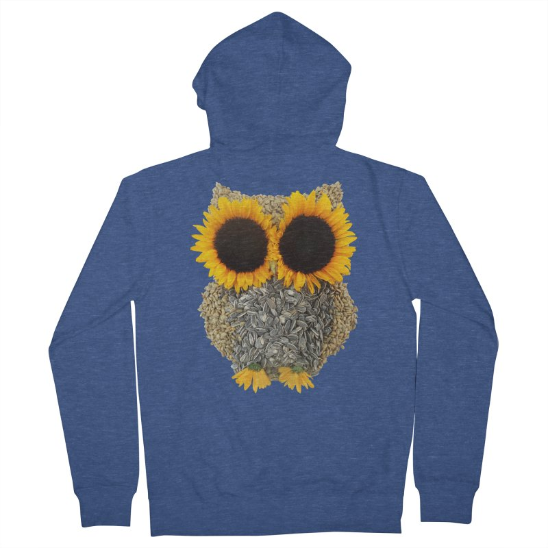Hoot! Day Owl! Men's Zip-Up Hoody by Apparel by Marco aka ivejustquitsmoking