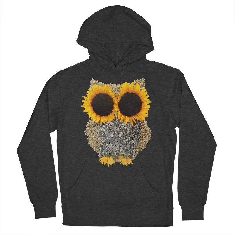 Hoot! Day Owl! Men's French Terry Pullover Hoody by Apparel by Marco aka ivejustquitsmoking
