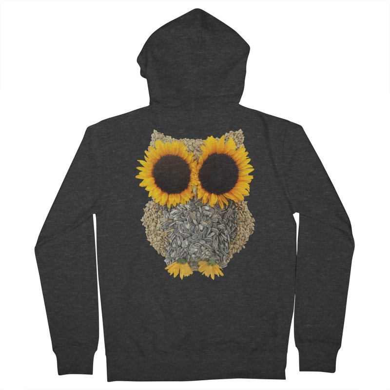 Hoot! Day Owl! Women's French Terry Zip-Up Hoody by Apparel by Marco aka ivejustquitsmoking
