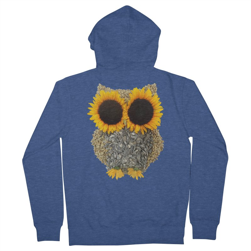 Hoot! Day Owl! Women's Zip-Up Hoody by Apparel by Marco aka ivejustquitsmoking