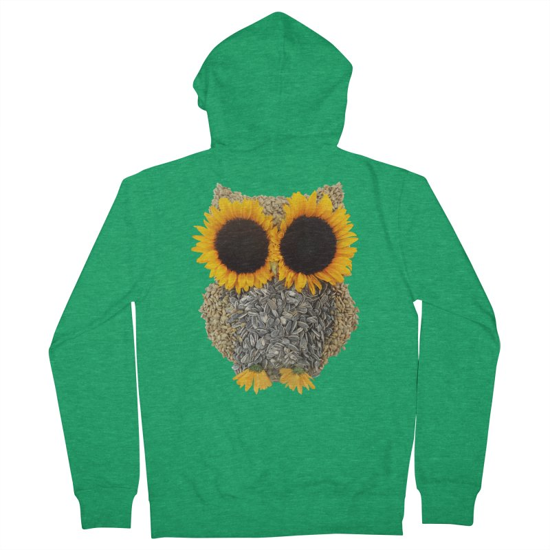 Hoot! Day Owl! Men's French Terry Zip-Up Hoody by Apparel by Marco aka ivejustquitsmoking