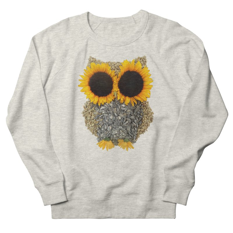 Hoot! Day Owl! Men's French Terry Sweatshirt by Apparel by Marco aka ivejustquitsmoking