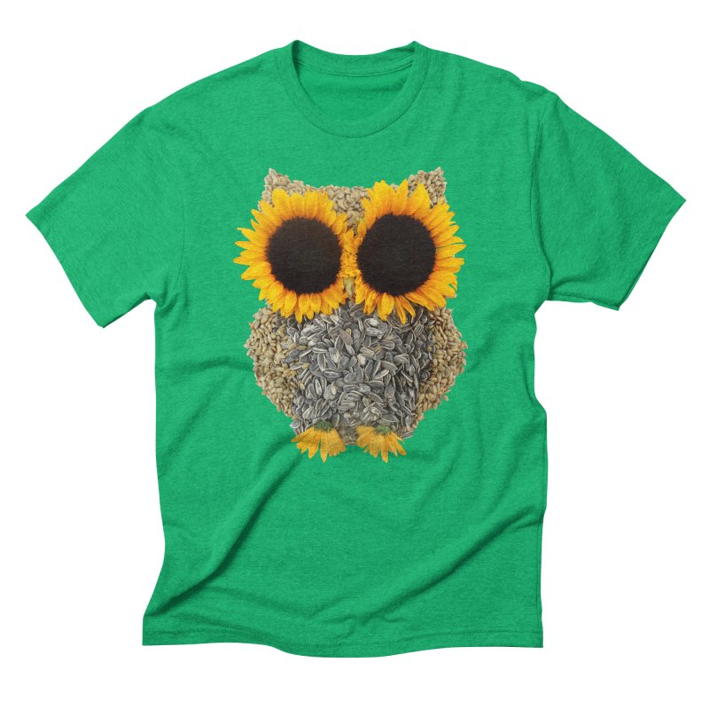 Hoot! Day Owl! Men's Triblend T-Shirt by Apparel by Marco aka ivejustquitsmoking