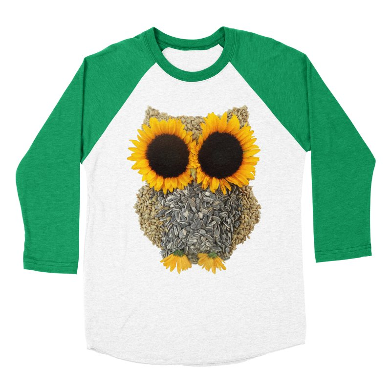Hoot! Day Owl! Women's Baseball Triblend Longsleeve T-Shirt by Apparel by Marco aka ivejustquitsmoking