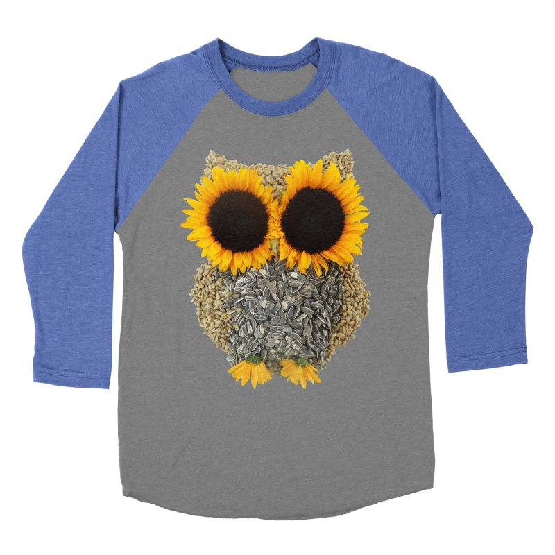 Hoot! Day Owl! Men's Baseball Triblend T-Shirt by Apparel by Marco aka ivejustquitsmoking