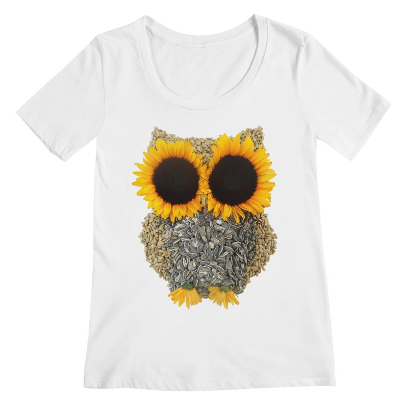 Hoot! Day Owl! Women's Scoopneck by Apparel by Marco aka ivejustquitsmoking