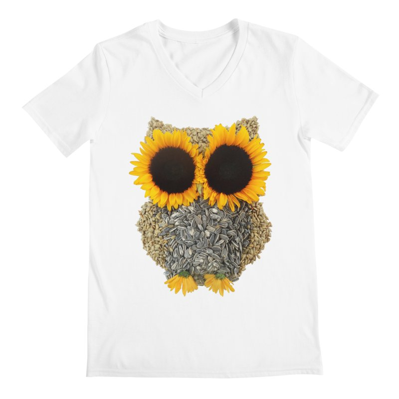 Hoot! Day Owl! Men's Regular V-Neck by Apparel by Marco aka ivejustquitsmoking