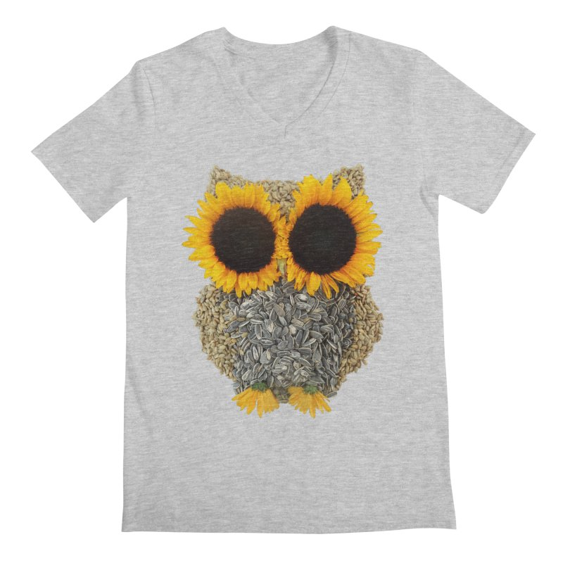 Hoot! Day Owl! Men's V-Neck by Apparel by Marco aka ivejustquitsmoking