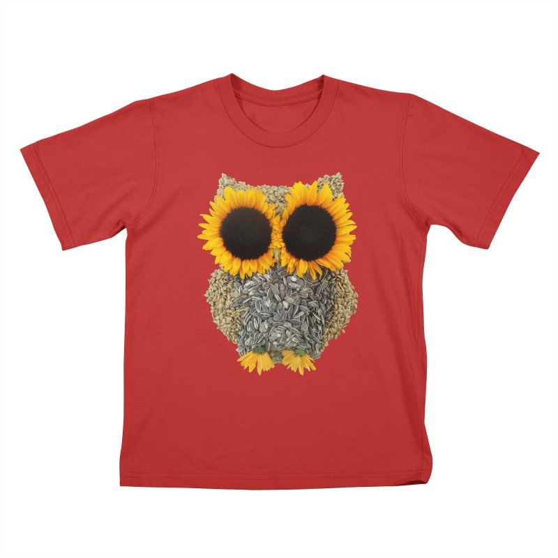 Hoot! Day Owl! Kids T-Shirt by Apparel by Marco aka ivejustquitsmoking