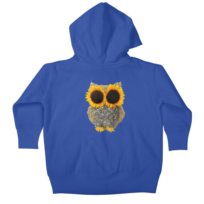 Hoot! Day Owl! Kids Baby Zip-Up Hoody by Apparel by Marco aka ivejustquitsmoking