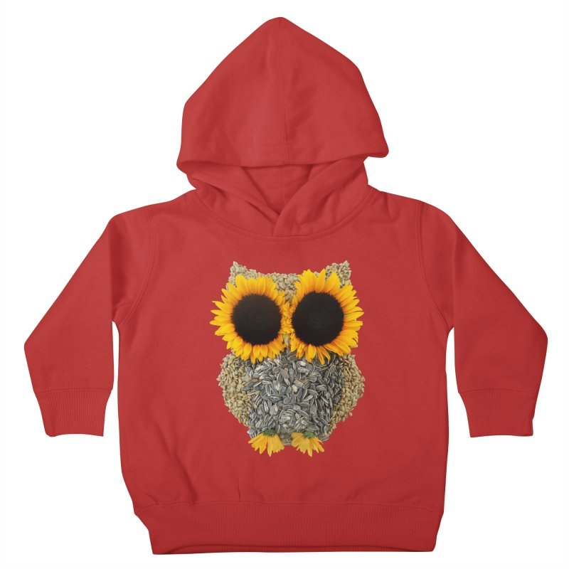 Hoot! Day Owl! Kids Toddler Pullover Hoody by Apparel by Marco aka ivejustquitsmoking