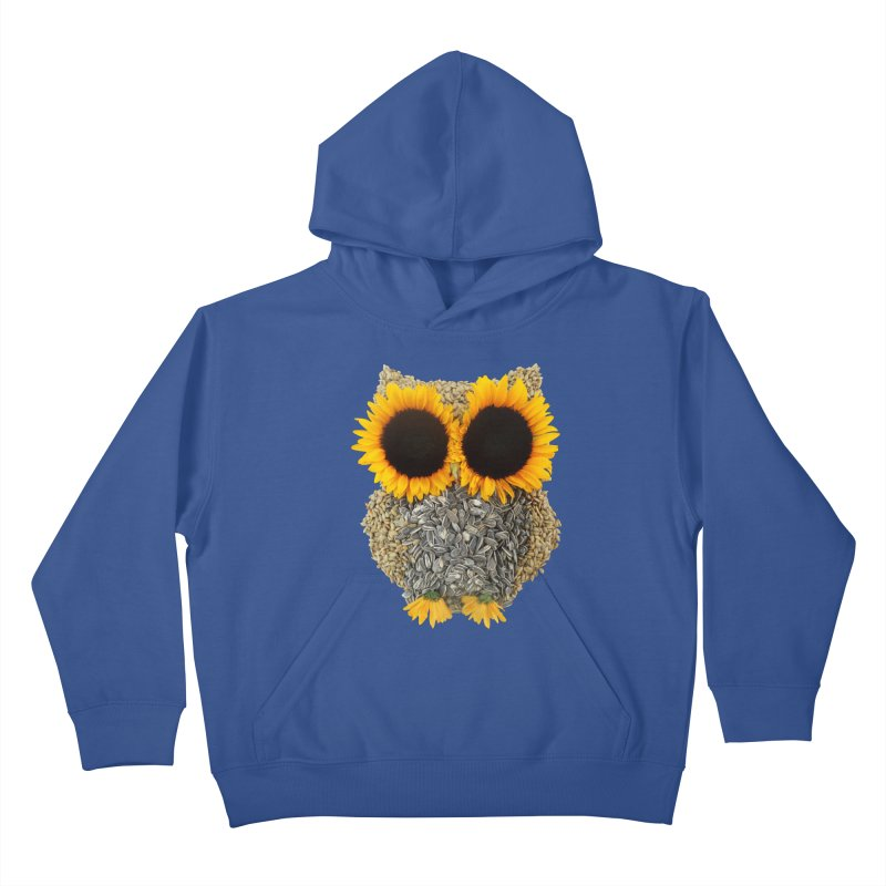 Hoot! Day Owl! Kids Pullover Hoody by Apparel by Marco aka ivejustquitsmoking