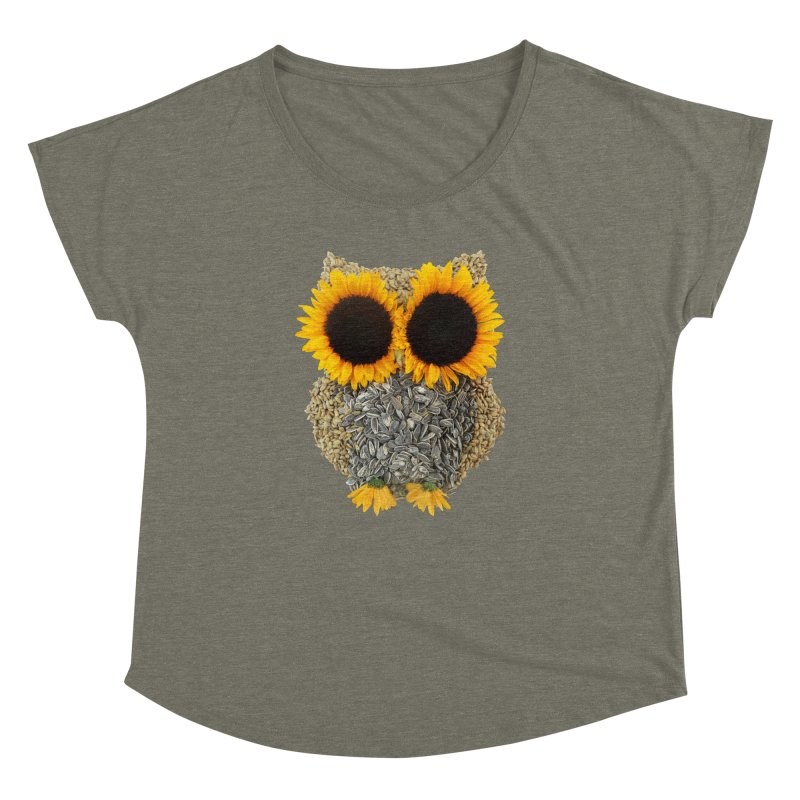 Hoot! Day Owl! Women's Dolman Scoop Neck by Apparel by Marco aka ivejustquitsmoking