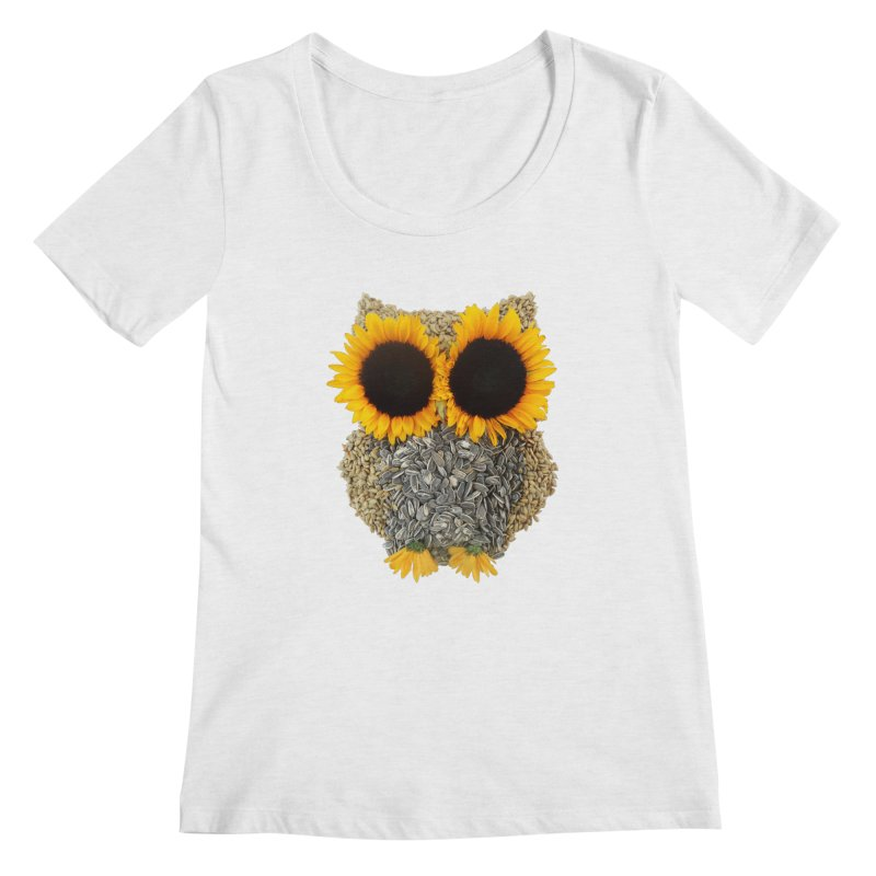 Hoot! Day Owl! Women's Regular Scoop Neck by Apparel by Marco aka ivejustquitsmoking