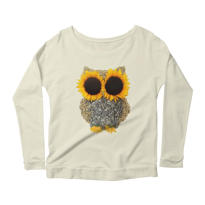 Hoot! Day Owl! Women's Longsleeve Scoopneck  by Apparel by Marco aka ivejustquitsmoking