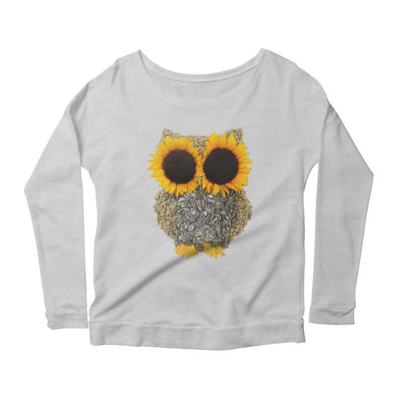 Hoot! Day Owl! Women's Scoop Neck Longsleeve T-Shirt by Apparel by Marco aka ivejustquitsmoking