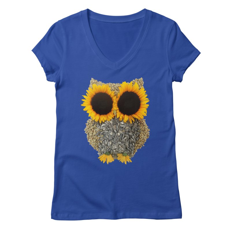 Hoot! Day Owl! Women's Regular V-Neck by Apparel by Marco aka ivejustquitsmoking