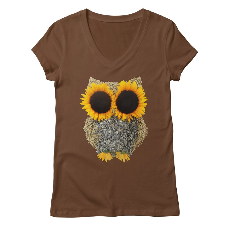 Hoot! Day Owl! Women's V-Neck by Apparel by Marco aka ivejustquitsmoking