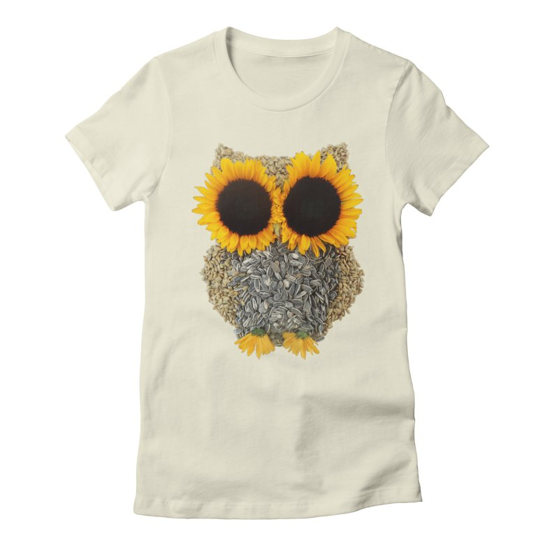Hoot! Day Owl! Women's Fitted T-Shirt by Apparel by Marco aka ivejustquitsmoking