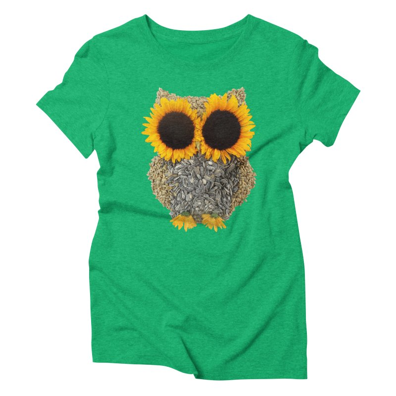 Hoot! Day Owl! Women's Triblend T-Shirt by Apparel by Marco aka ivejustquitsmoking