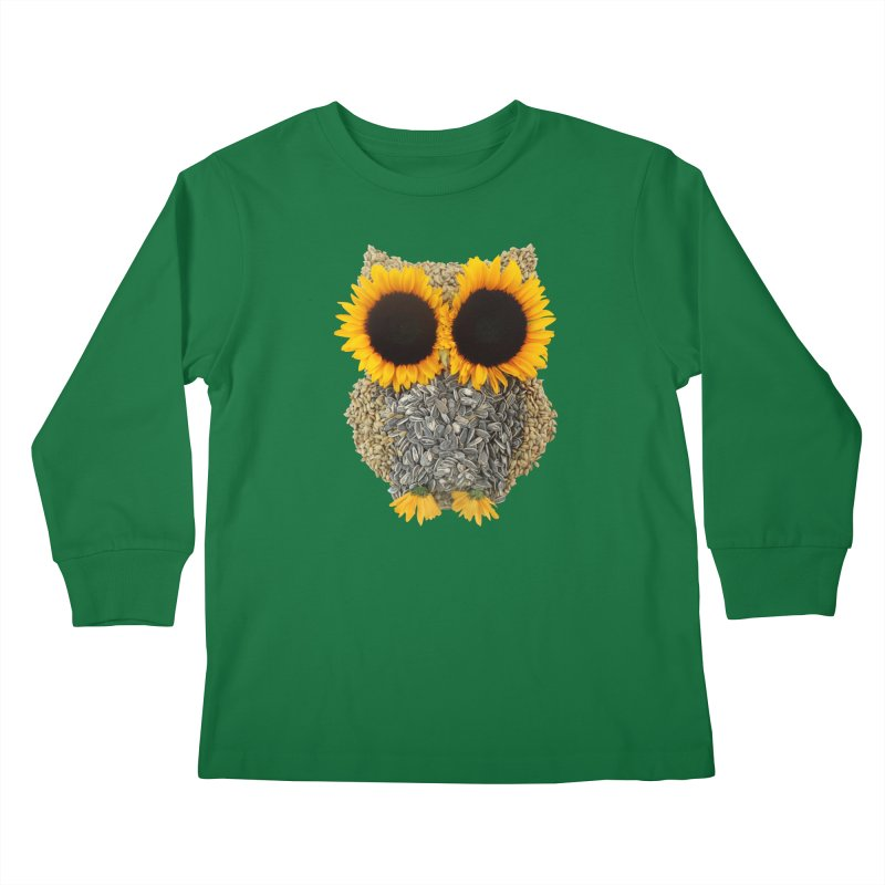 Hoot! Day Owl! Kids Longsleeve T-Shirt by Apparel by Marco aka ivejustquitsmoking