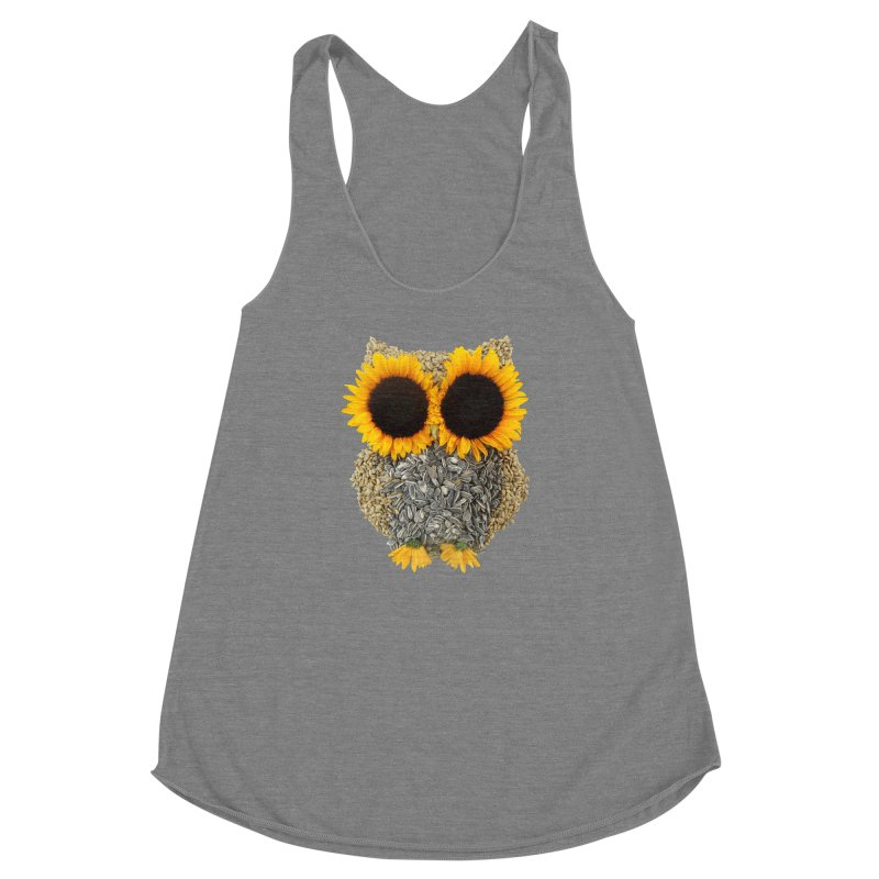 Hoot! Day Owl! Women's Racerback Triblend Tank by Apparel by Marco aka ivejustquitsmoking
