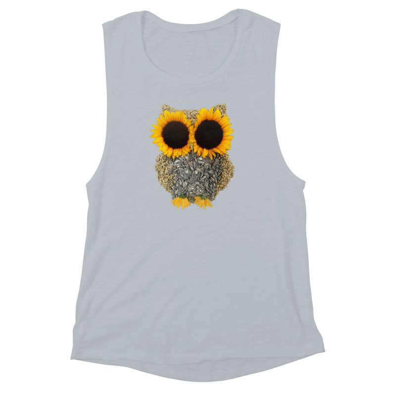 Hoot! Day Owl! Women's Muscle Tank by Apparel by Marco aka ivejustquitsmoking