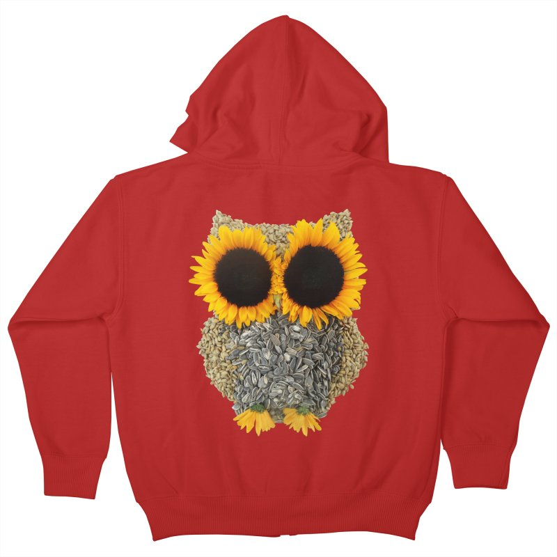 Hoot! Day Owl! Kids Zip-Up Hoody by Apparel by Marco aka ivejustquitsmoking