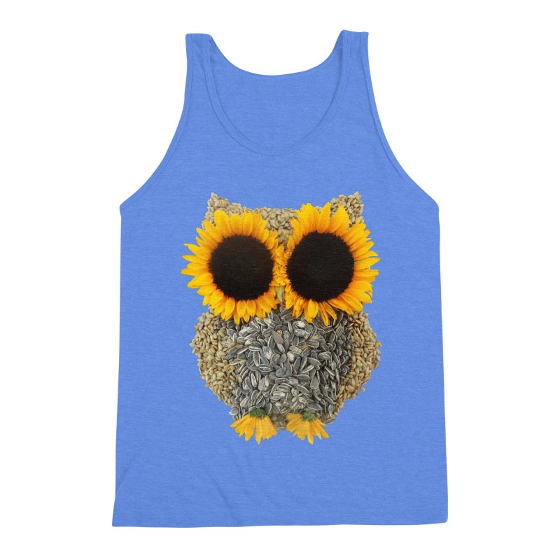 Hoot! Day Owl! Men's Triblend Tank by Apparel by Marco aka ivejustquitsmoking