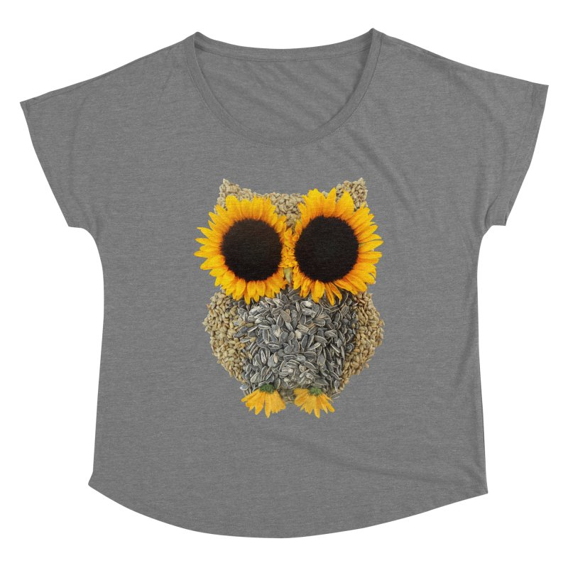 Hoot! Day Owl! Women's Scoop Neck by Apparel by Marco aka ivejustquitsmoking