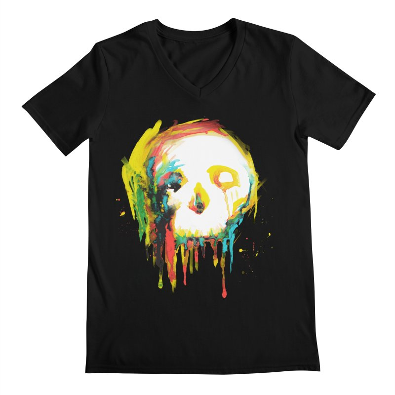 Happy/Grim Men's V-Neck by Apparel by Marco aka ivejustquitsmoking
