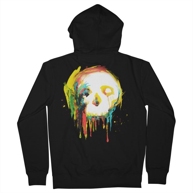 Happy/Grim Women's French Terry Zip-Up Hoody by Apparel by Marco aka ivejustquitsmoking