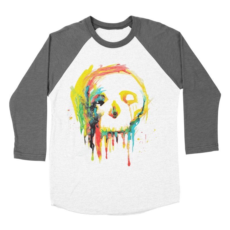 Happy/Grim Women's Baseball Triblend Longsleeve T-Shirt by Apparel by Marco aka ivejustquitsmoking