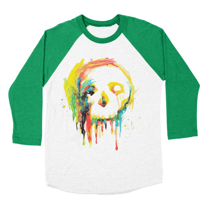 Happy/Grim Women's Baseball Triblend T-Shirt by Apparel by Marco aka ivejustquitsmoking