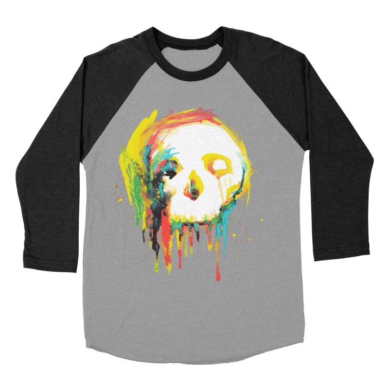 Happy/Grim Men's Baseball Triblend T-Shirt by Apparel by Marco aka ivejustquitsmoking