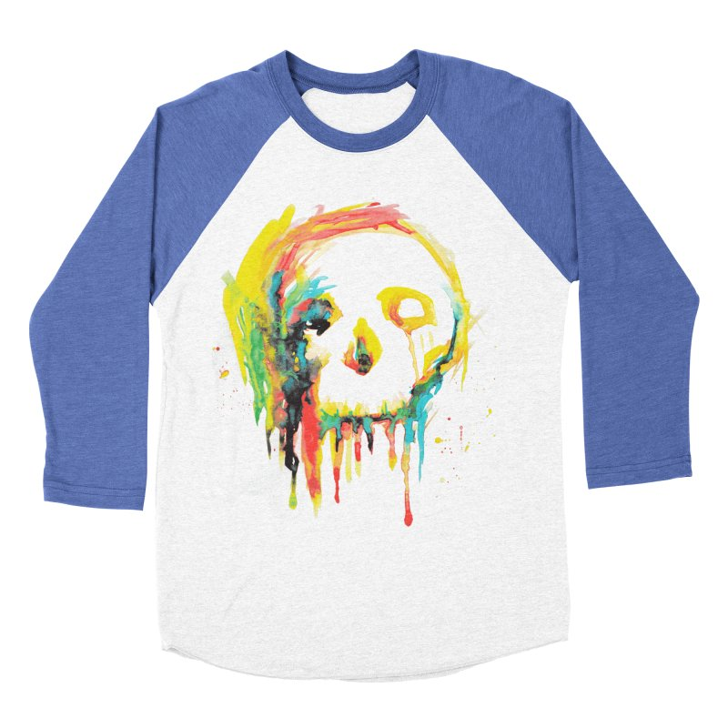 Happy/Grim Men's Baseball Triblend Longsleeve T-Shirt by Apparel by Marco aka ivejustquitsmoking