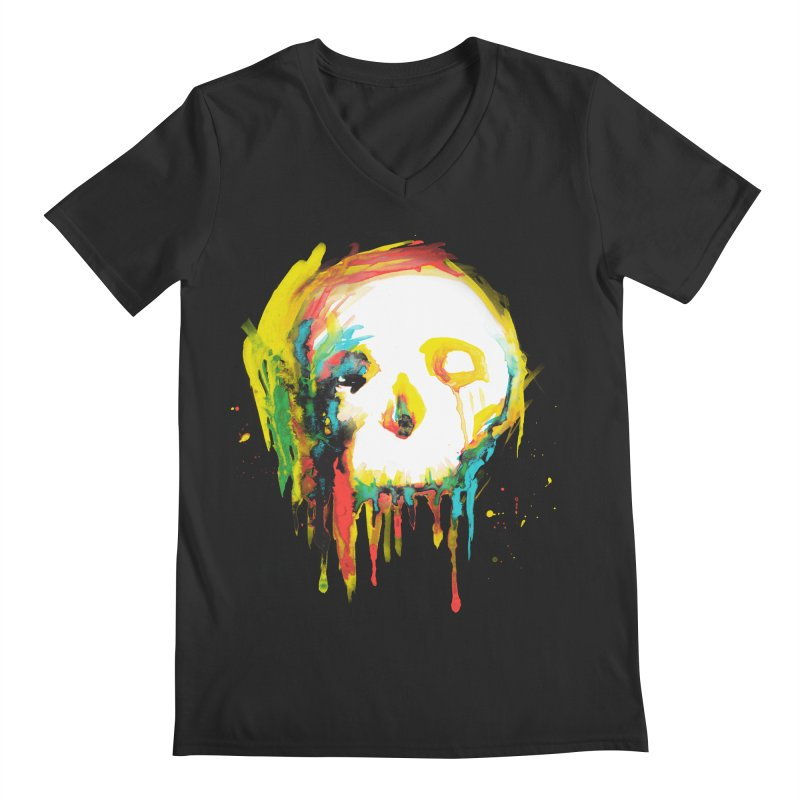 Happy/Grim Men's Regular V-Neck by Apparel by Marco aka ivejustquitsmoking