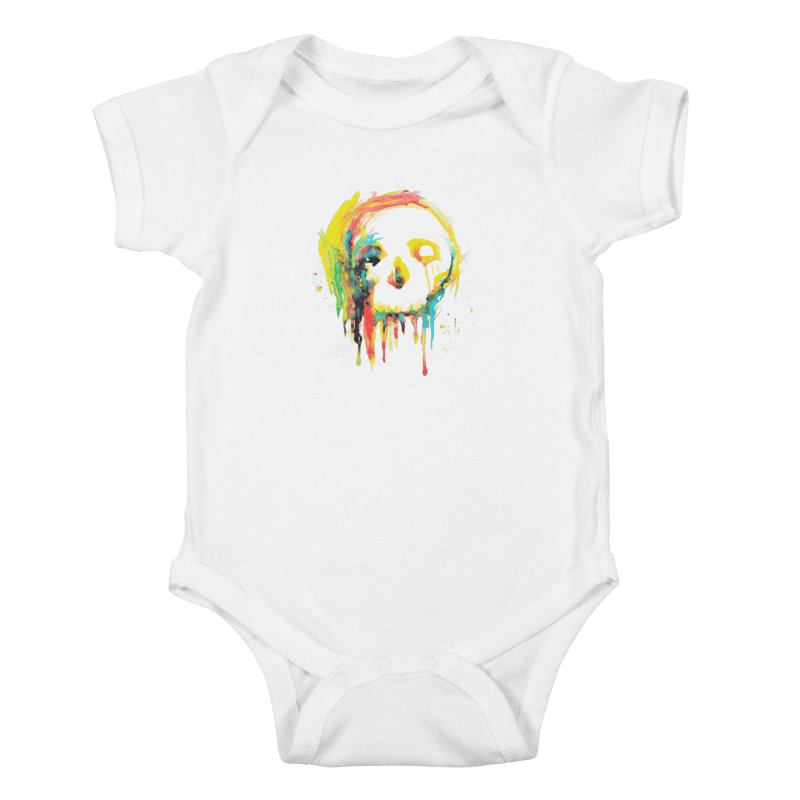 Happy/Grim Kids Baby Bodysuit by Apparel by Marco aka ivejustquitsmoking