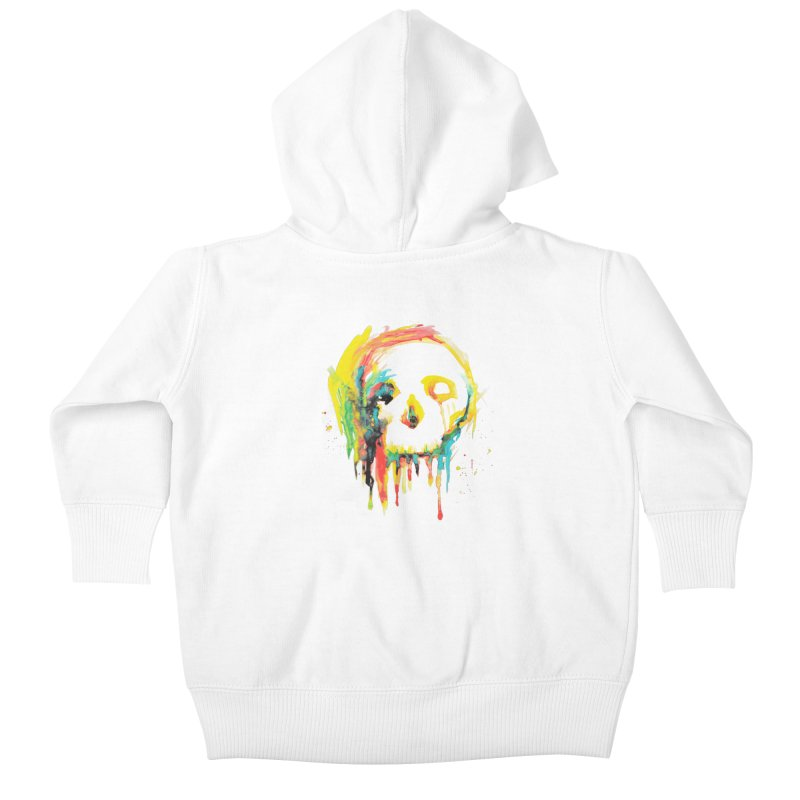Happy/Grim Kids Baby Zip-Up Hoody by Apparel by Marco aka ivejustquitsmoking