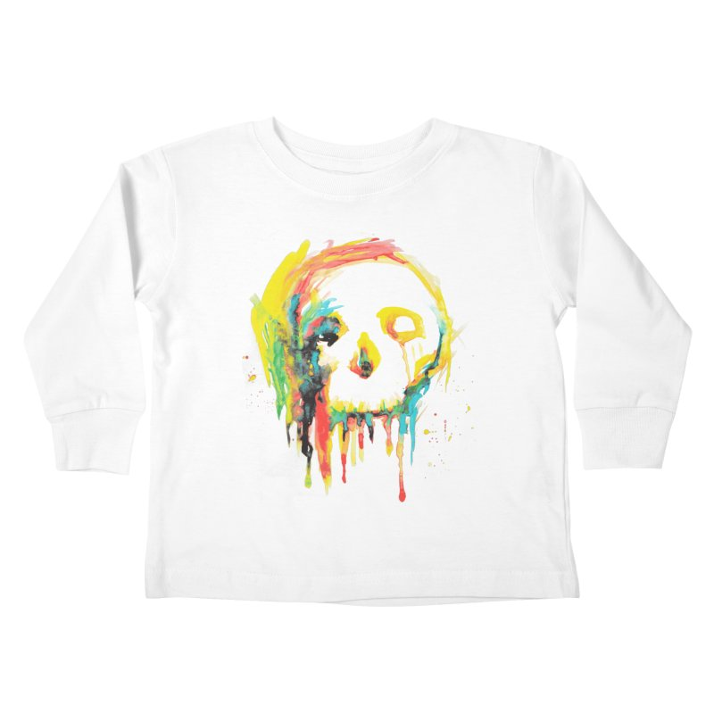 Happy/Grim Kids Toddler Longsleeve T-Shirt by Apparel by Marco aka ivejustquitsmoking
