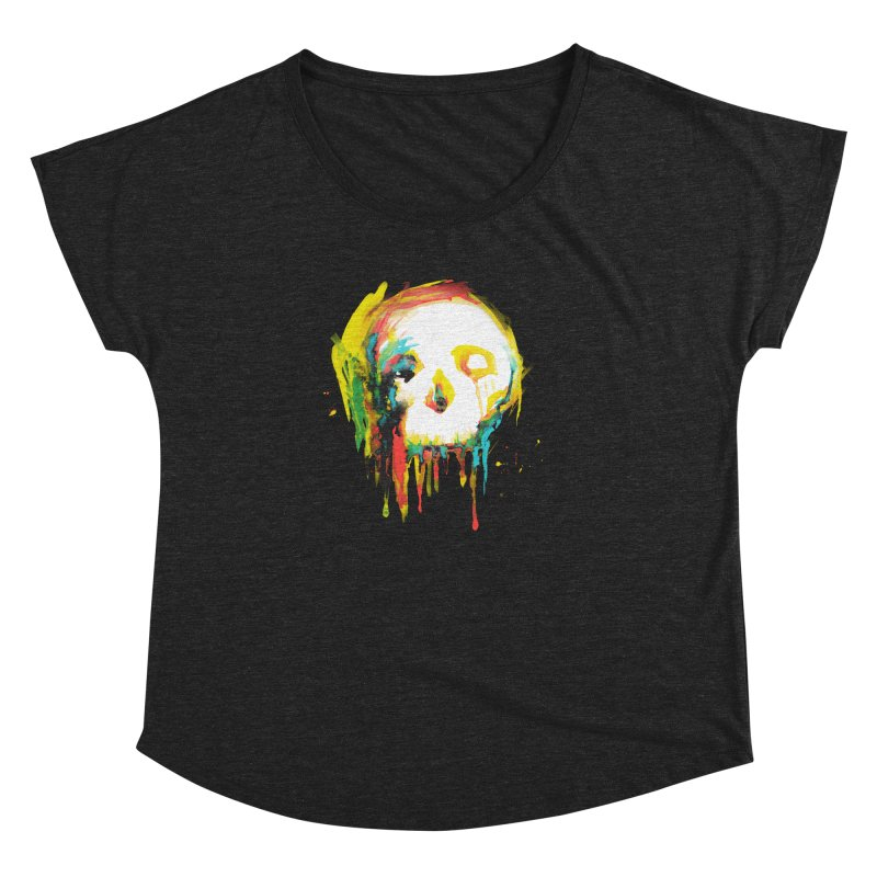 Happy/Grim Women's Dolman Scoop Neck by Apparel by Marco aka ivejustquitsmoking