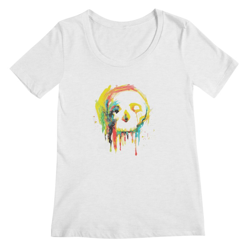 Happy/Grim Women's Regular Scoop Neck by Apparel by Marco aka ivejustquitsmoking