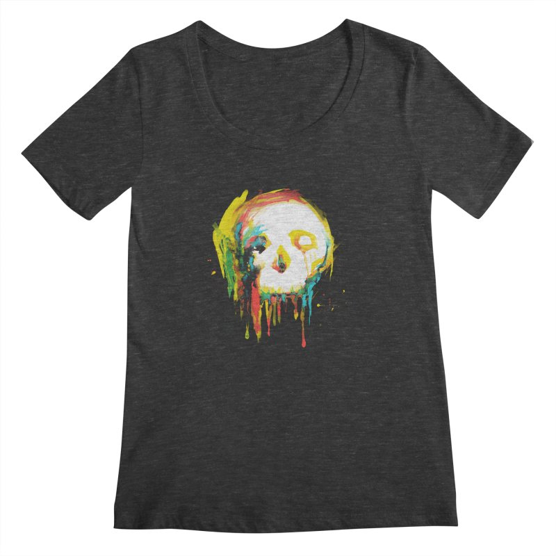 Happy/Grim Women's Scoopneck by Apparel by Marco aka ivejustquitsmoking