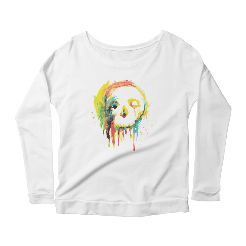 Happy/Grim Women's Scoop Neck Longsleeve T-Shirt by Apparel by Marco aka ivejustquitsmoking