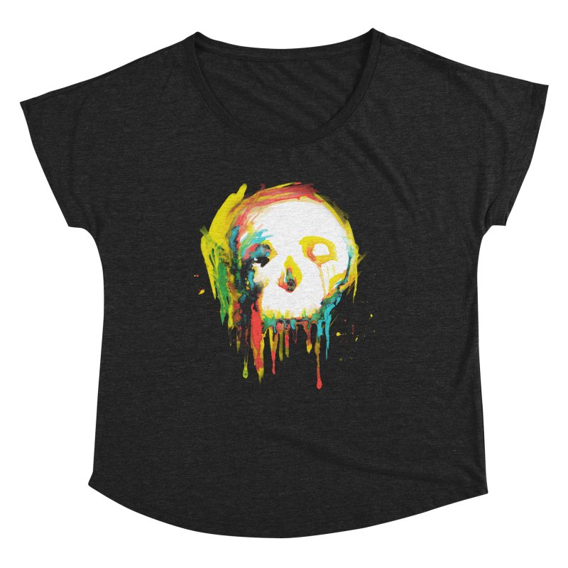 Happy/Grim Women's Scoop Neck by Apparel by Marco aka ivejustquitsmoking